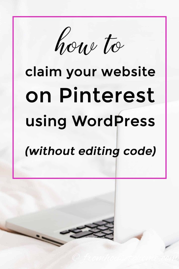 how to claim your website on Pinterest using WordPress