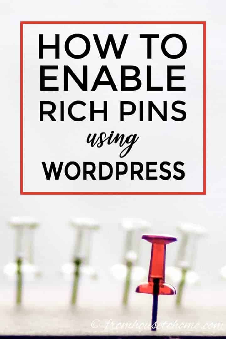 How to enable rich pins for WordPress sites