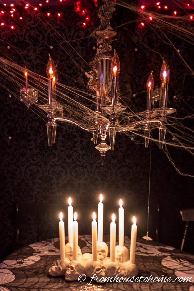 Halloween Candles And Chandelier