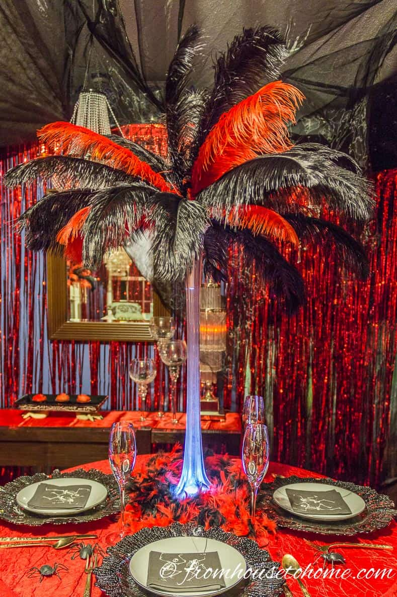 Red and Black Table - Fallen Angels and Devils Party | www.fromhousetohome.com/entertainingdiva