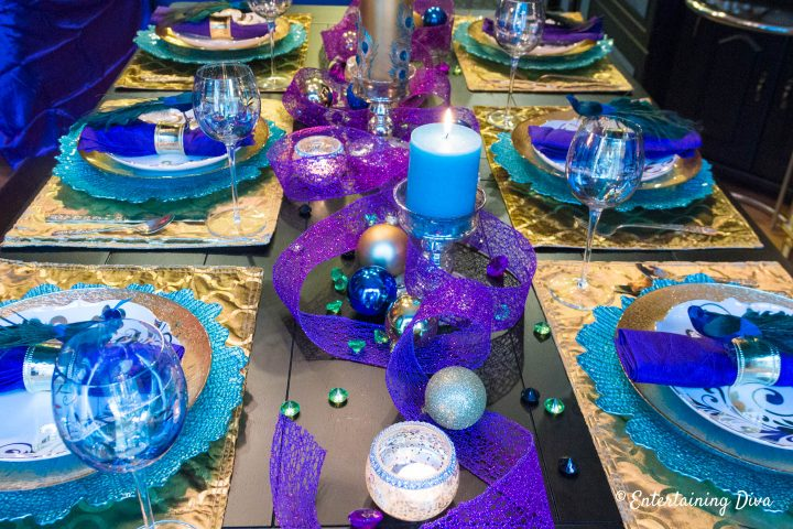 Mardi Gras table centerpiece