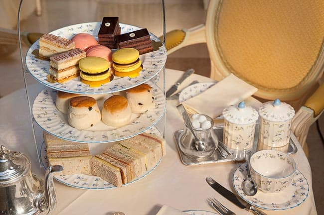 The afternoon tea at the Ritz London