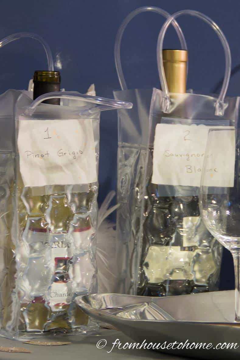Chiller bags are great for keeping white wine cold | How To Host a Wine Tasting Party