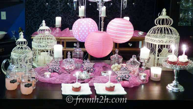 Pretty In Pink birthday party decor