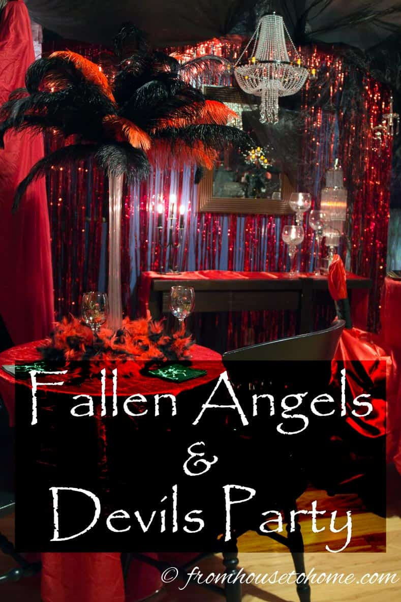 Fallen Angels and Devils Party | Looking for some food, drinks and decor ideas for a Fallen Angels and Devils Party? This post of an actual party has some great ones!