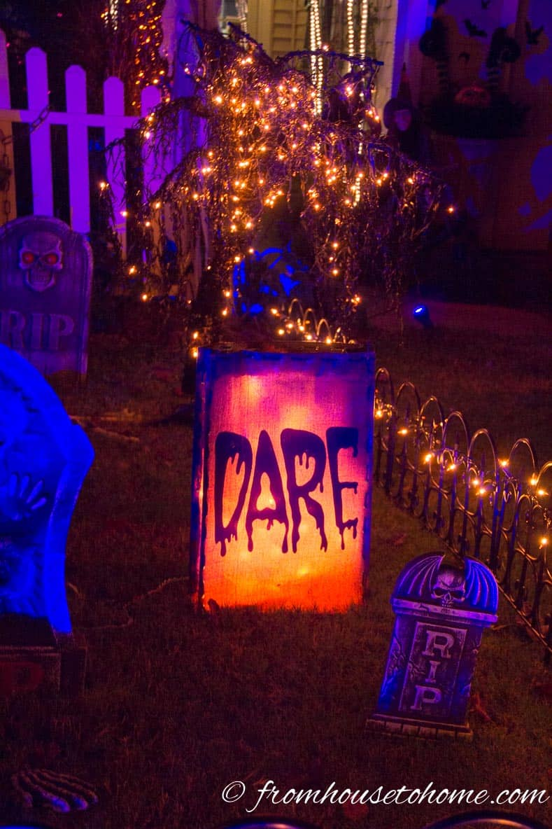 "Halloween ""Dare"" Luminary"