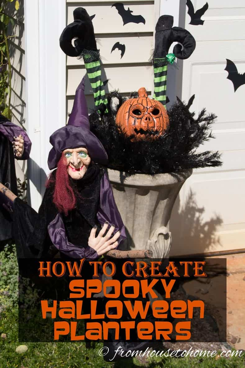How to Create Spooky Halloween Planters | www.fromhousetohome.com/entertainingdiva