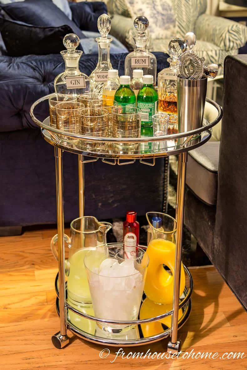 How To Style A Bar Cart | www.fromhousetohome.com/entertainingdiva