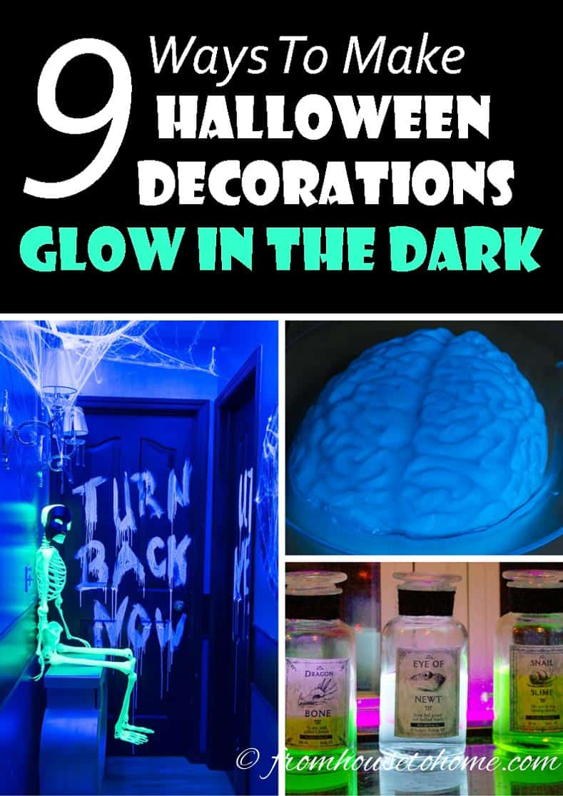 9 Ways To Create Glow-In-The-Dark Halloween Decorations
