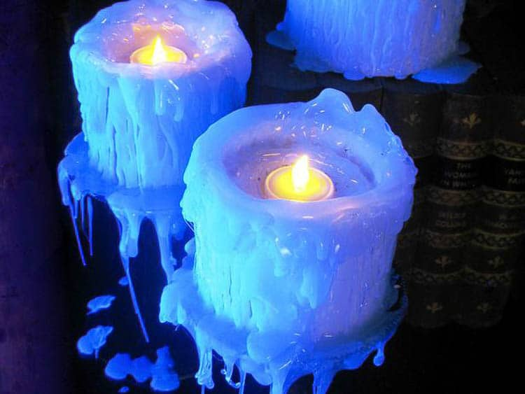 Glue Gun Glow In the Dark Faux Candles