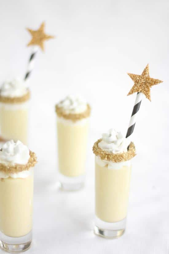 Champagne Chantilly Shooters (from sprinklebakers.com) | 15 Fabulous Oscar Party Ideas