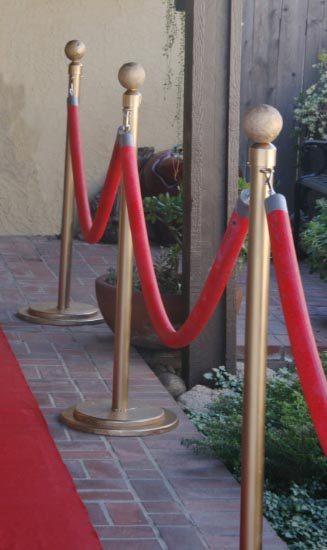 DIY Stanchions and ropes | 15 Fabulous Oscar Party Ideas