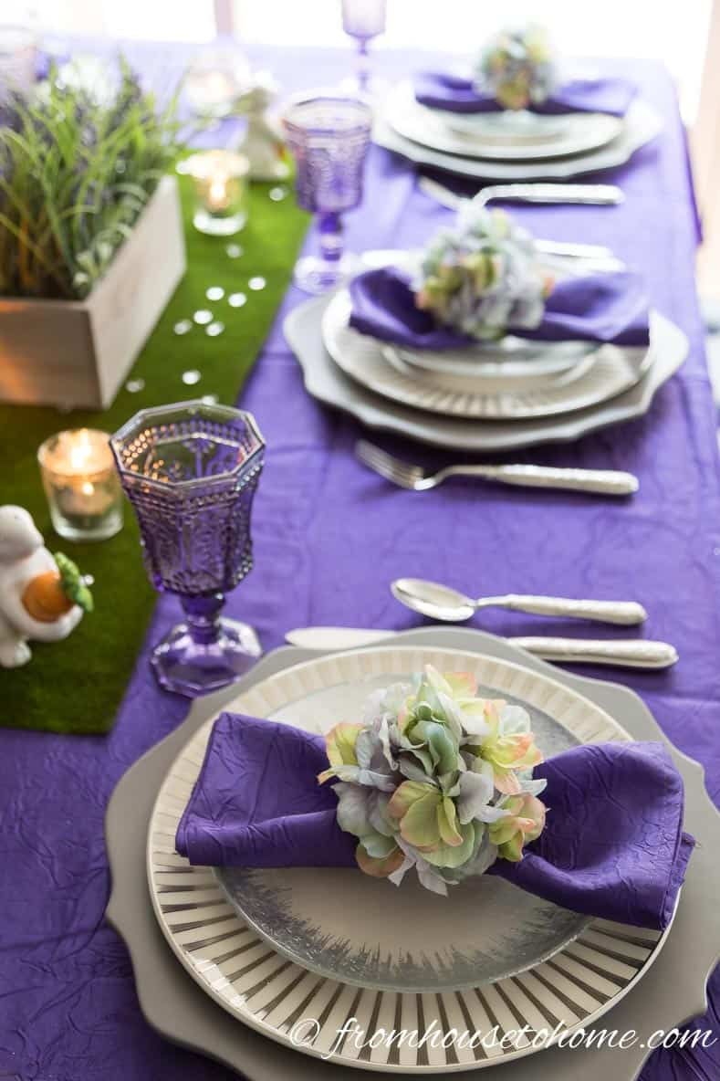 The Easter table setting | How To Create An Easter Tablescape (Inspired by Spring)