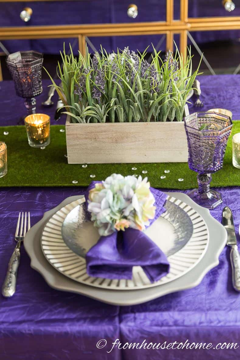 Add matching silverware | How To Create An Easter Tablescape (Inspired by Spring)