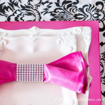 DIY Sparkle Napkins