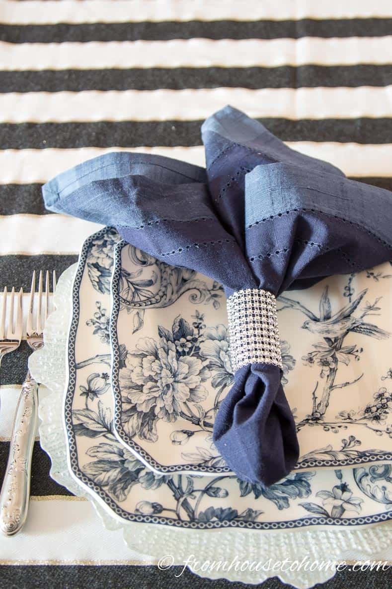 Easy And Inexpensive Diy Sparkle Napkin Rings Entertaining Diva From House To Home