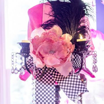 Pink Hat Centerpiece #2