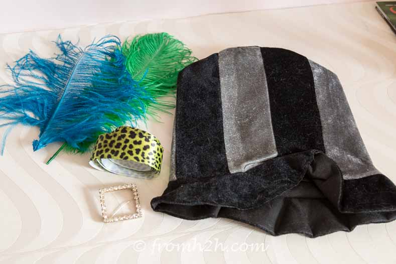 Green Mad Hatter hat supplies