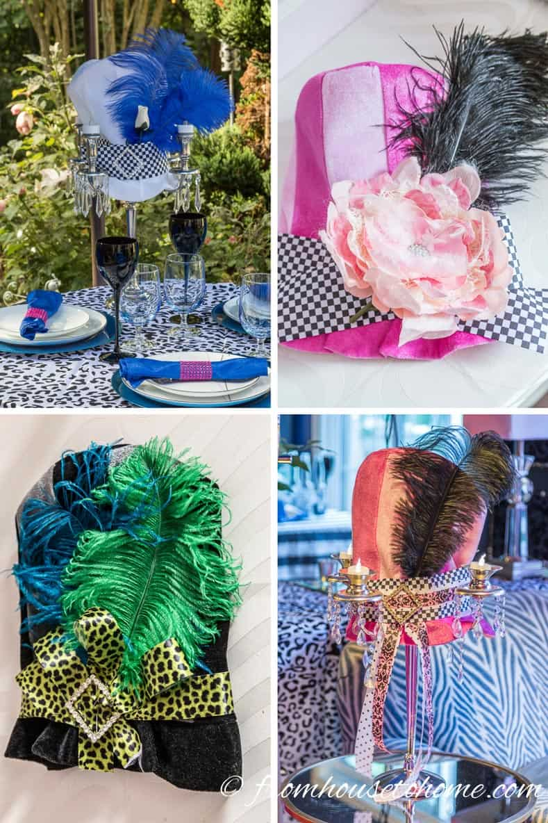 Mad Hatter Hat Centerpieces