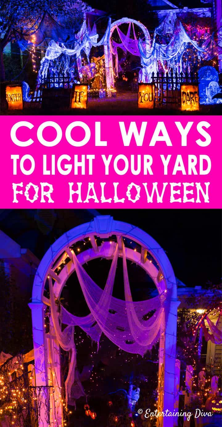 Halloween Party Light-Up Battery Operated LED Warning Hanging Sign