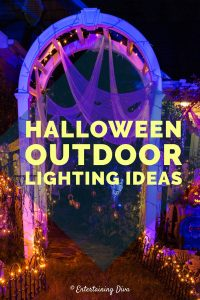 Halloween outdoor lighting ideas