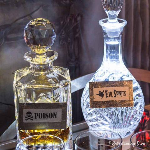Lighted Halloween Decanters