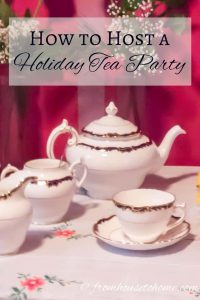 Host a holiday tea party