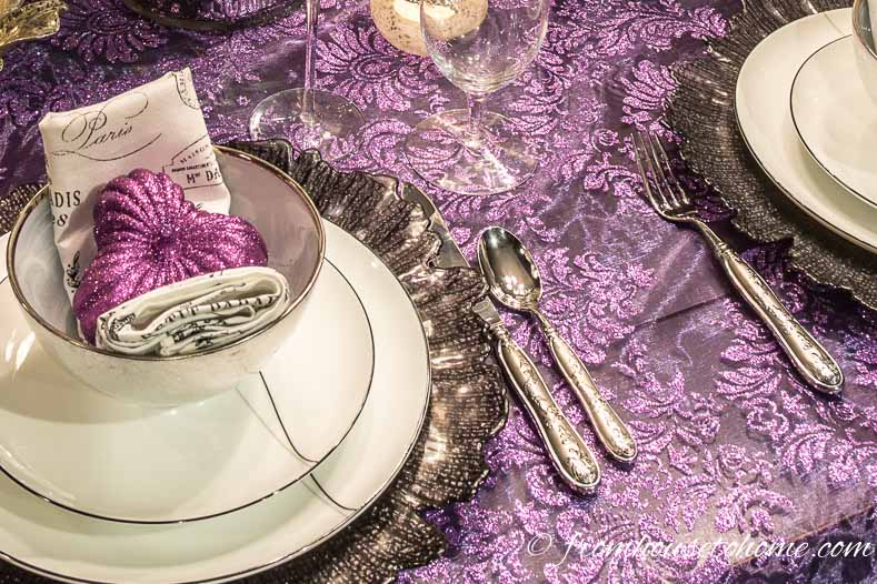 Silver cutlery finishes the table setting