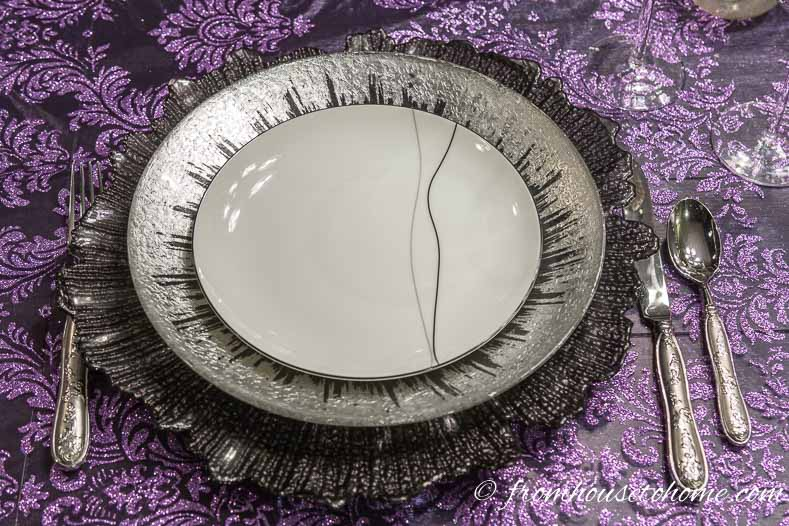 Swapping out the black and white plate for a silver plate adds a little more interest