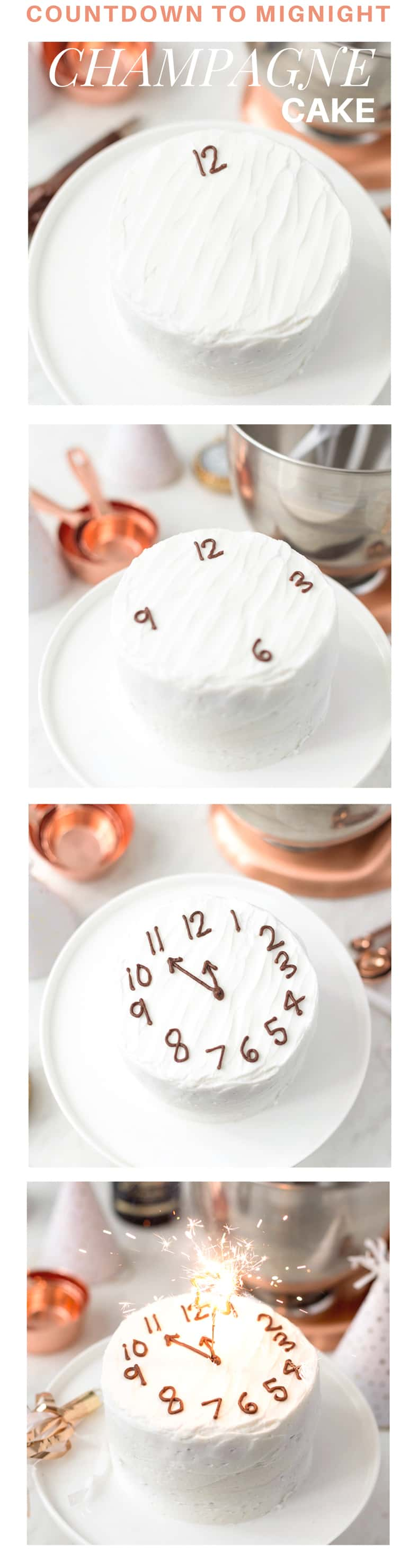 Countdown to Midnight cake from pizzazzerie.com | Easy Last Minute New Year's Eve Decorations