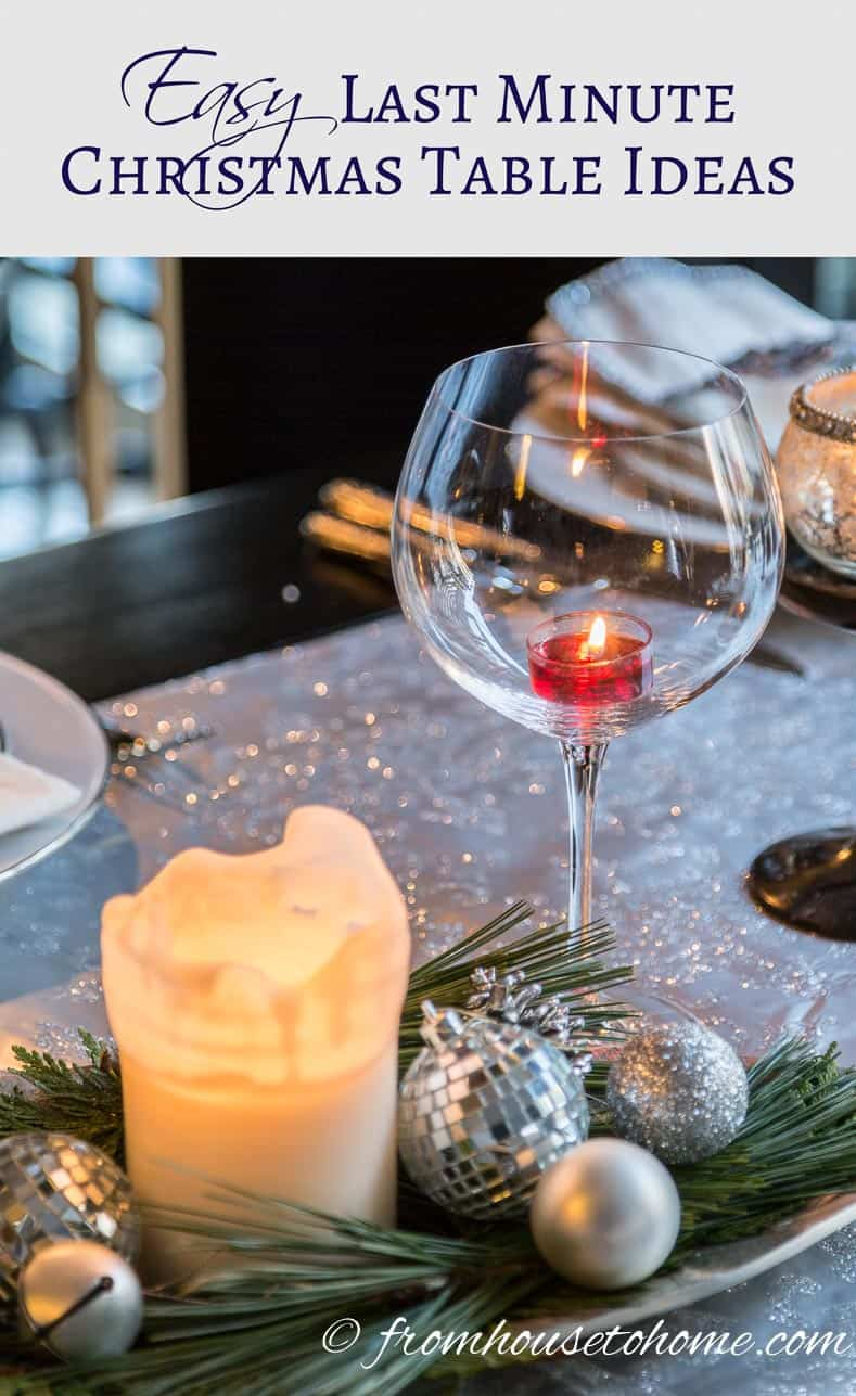 Easy Last Minute Christmas Table Ideas