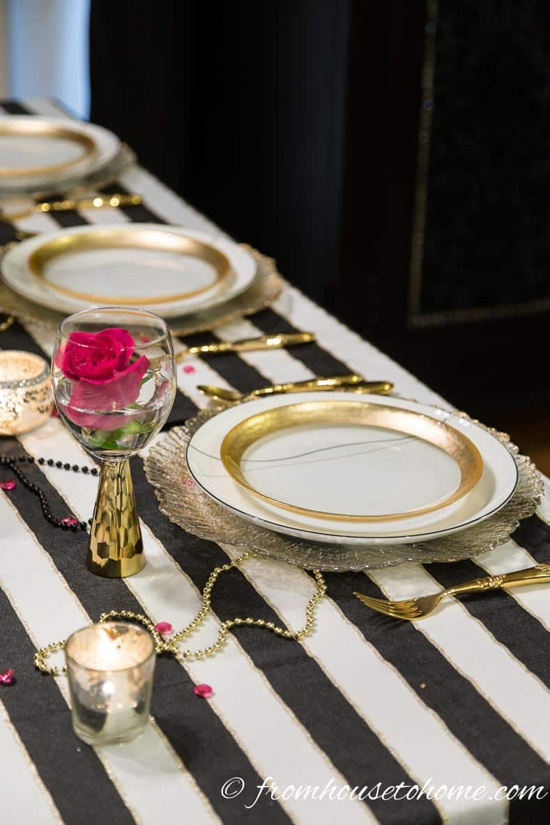 Kate Spade inspired place setting | Kate Spade Inspired Table Setting