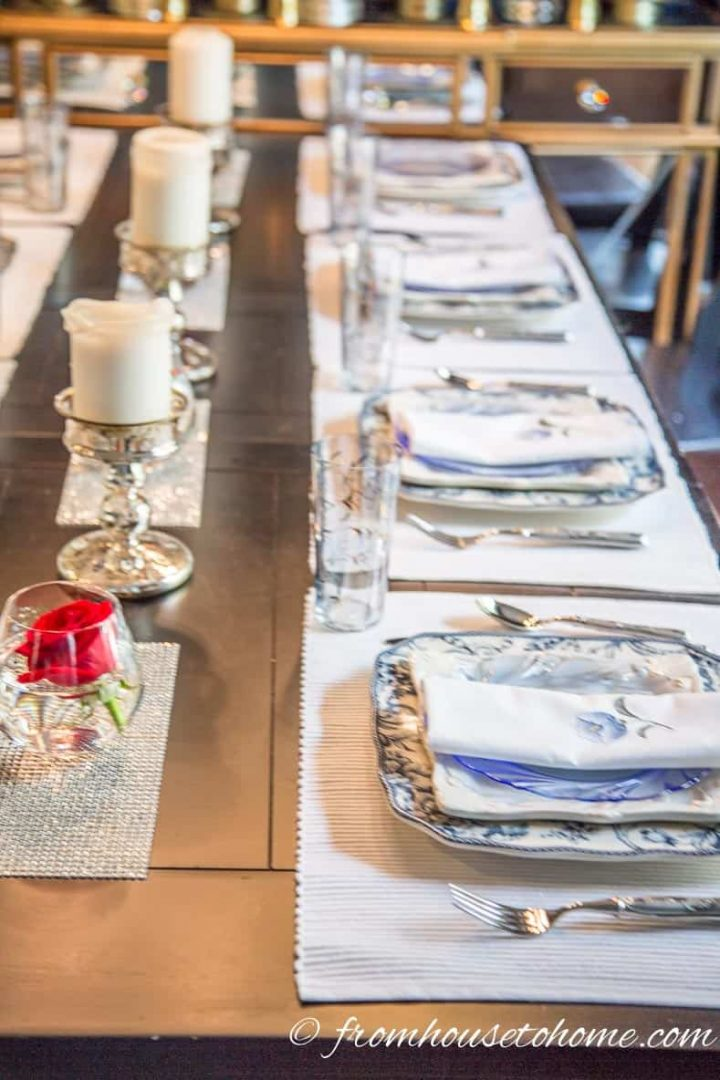 Simple brunch table setting