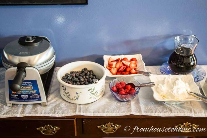 Make Your Own Waffle Station