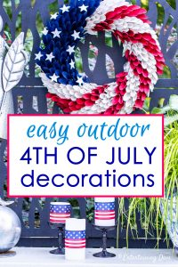 easy outdoor 4th of July decorations