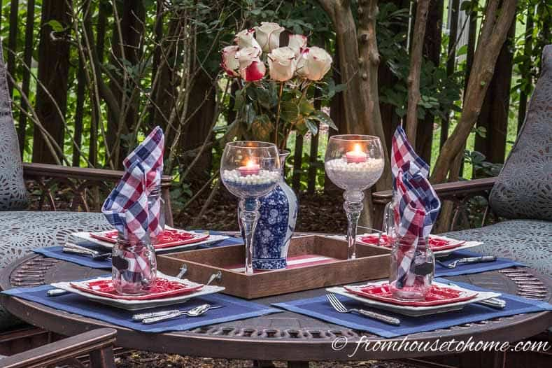 Easy 4th of July table decorations