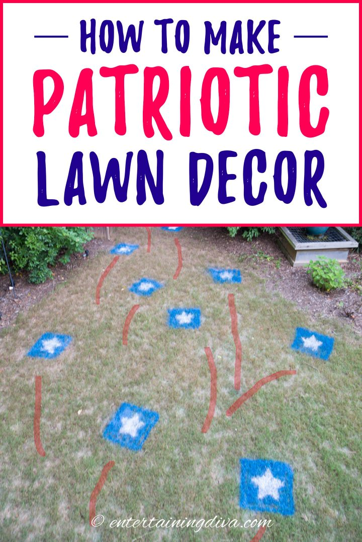 How to make patriotic lawn stars decor for Memorial Day and the 4th of July