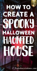 indoor haunted house decorations for Halloween