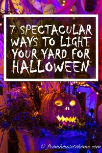Outdoor lighting ideas for Halloween
