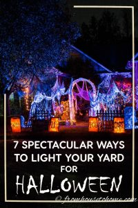 Spectactular Halloween outdoor decor ideas with lighting