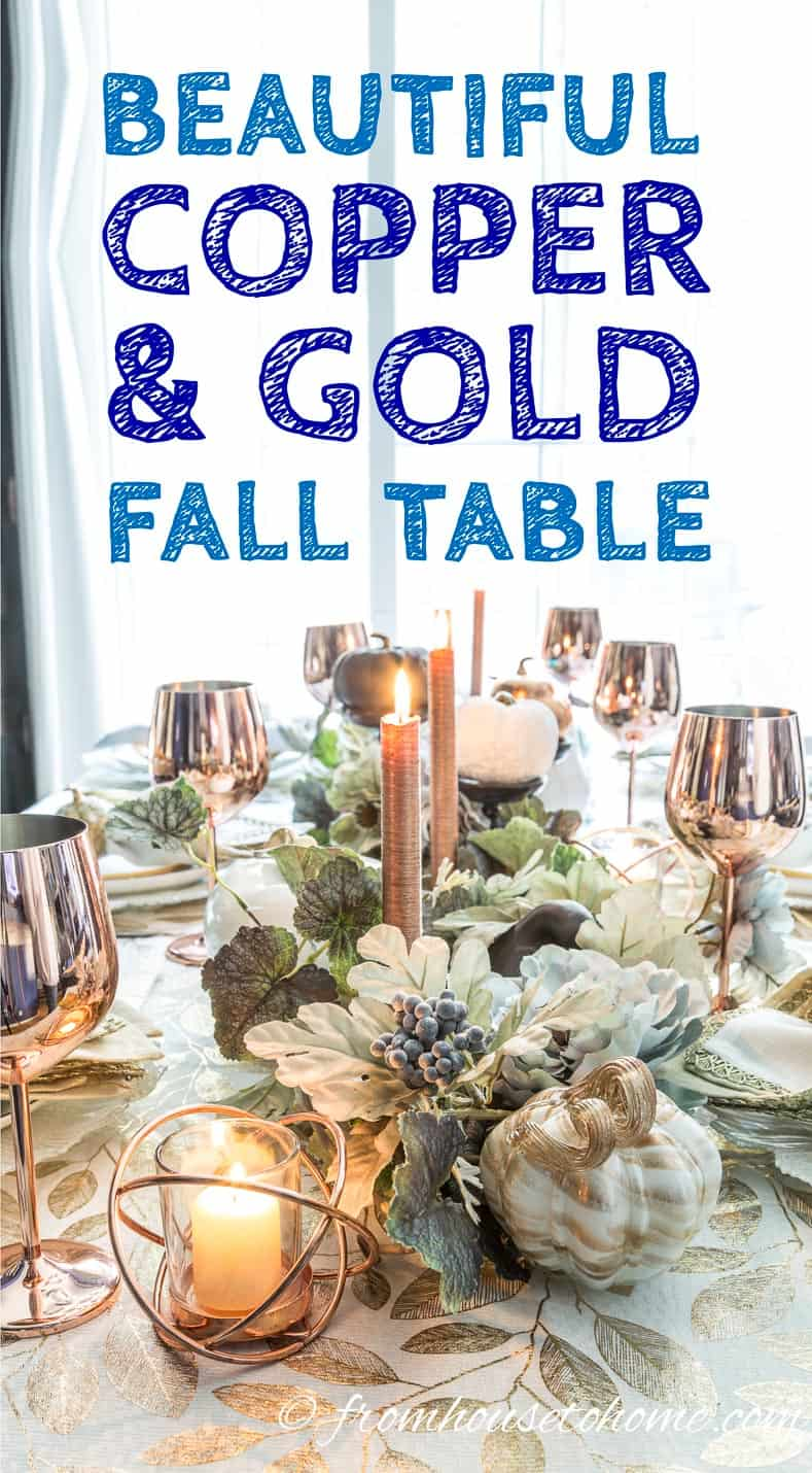 Copper fall table setting