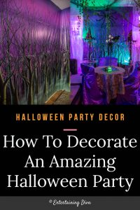 How to decorate an amazing Halloween party with scene setters