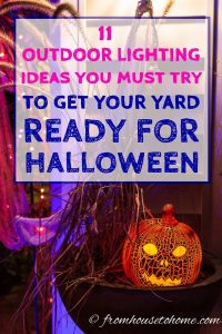 Looking for outdoor lighting to work for your front yard haunt? These 11 ways to create spooky Halloween lighting will definitely provide some inspiration.