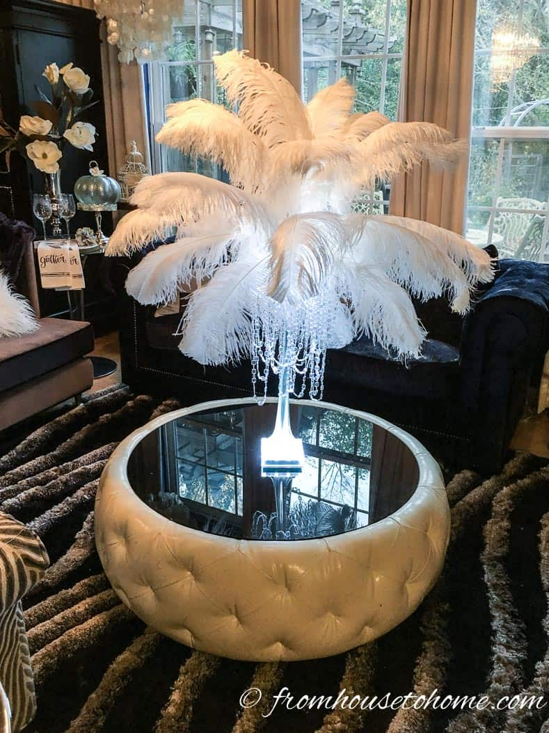 This glam DIY feather centerpiece that will turn your wedding or party into a really special event without breaking your budget. Learn how to make them with this step-by-step tutorial.