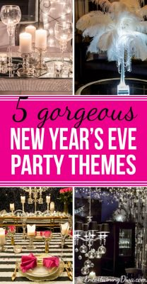 Gorgeous glam New Year's Eve party themes