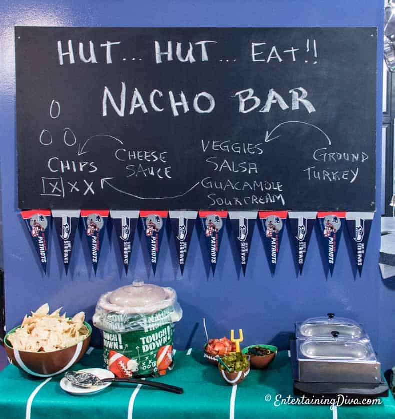 A help-yourself nacho bar is easy to put together and people love it!