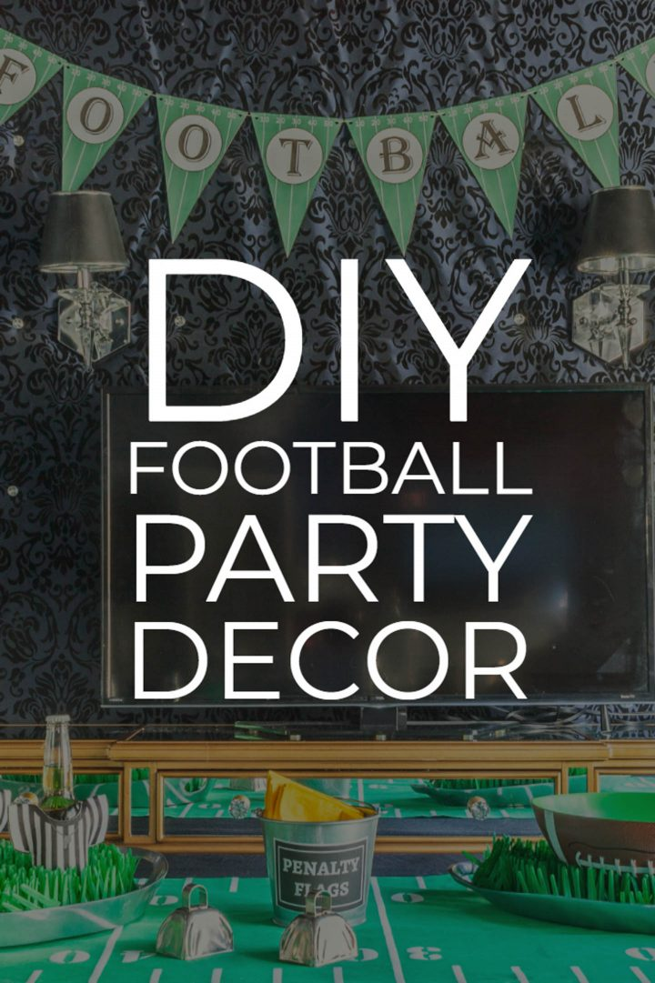 DIY football party decor