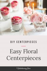 Easy floral centerpieces