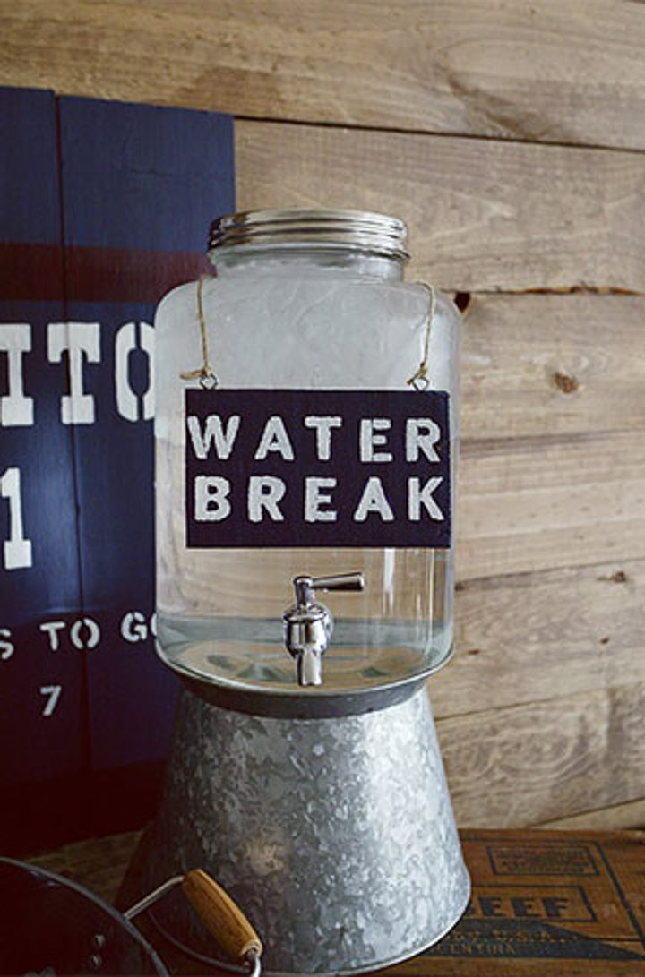 Super Bowl party decor water cooler