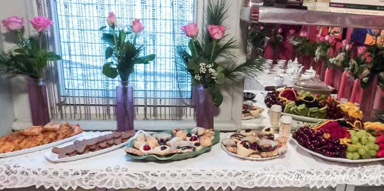 The sweets buffet at our traditional tea party
